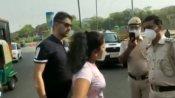 दिल्ली : मास्क ना लगाकर पुलिस से बदतमीजी करने वाला कपल गिरफ्तार, कल हुआ वीडियो वायरल