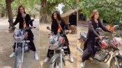 गांव की सड़कों पर चुनाव प्रचार करते हुए एक्ट्रेस Diksha Singh बाइक चलाती आई नजर, देखें वीडियो