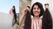 Video:दुनिया में सबसे लंबे बालों वाली लड़की नीलांशी पटेल ने इस नेक काम के लिए कटवाए अपने 6 फीट लंबे बाल