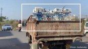 गुजरात: नगर निगम का कारनामा, कोरोना से तड़पते मरीजों के लिए कचरे के ट्रक में भिजवाए 34 वेंटिलेटर