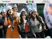 PICS: दिल्ली में शानदार जीत का जश्न मनाती 'आप'