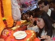 Ganesh festival: बप्पा के दर पर पहुंचीं टीवी क्वीन एकता कपूर, टेका मत्था, तस्वीरें वायरल