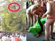 पेड़ पर चढ़कर एक प्रत्याशी ने पुलिस के उड़ाए होश, दूसरी ने फर्श पर लोटकर छुड़ाए पसीने