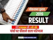 लोकसभा रिजल्ट 2019 : ये हैं राजस्थान की 5 हॉट सीट, पांचों पर आया चौंकाने वाला परिणाम