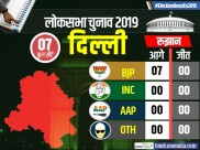 Lok Sabha Election Results 2019: दिल्ली की सभी सातों सीटों पर बीजेपी आगे
