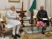 राष्ट्रपति रामनाथ कोविंद से मिले पीएम मोदी, सौंपा इस्तीफा