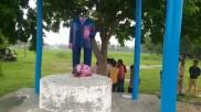 आजमगढ़ में दो स्थानों पर तोड़ी डॉ. भीमराव अंबेडकर की प्रतिमा, हंगामे के बाद पहुंची पुलिस फोर्स