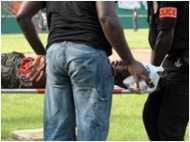 फुटबॉल स्टेडियम में भगदड़, 22 मरे