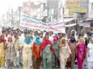 गोरखपुर परमाणु संयंत्र के खिलाफ हरियाणा के किसानों का प्रदर्शन