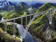 भारत में बनेगा दुनिया का सबसे ऊंचा रेलवे ब्रिज