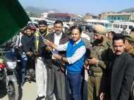 मतदाता जागरूकता के लिए जम्मू कश्मीर में निकाली वाहन रैली