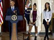 ओबामा की बेटियों ने पहनी शॉर्ट स्कर्ट तो अमेरिका में मचा हल्ला