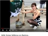 मिलिए हॉट 'मिल्क सिस्टर' से, जो बीच सड़क पर बेचती है फ्रेश दूध