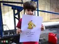 आपके लिए मजा होगा,लेकिन सीरिया में बच्चों लिए उम्मीद है पोकेमॉन