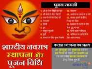 शारदीय नवरात्र 2016: जानिए घट-स्थापना की पूजा और मुहूर्त का समय