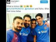 टी-20 सीरीज जीतने के बाद कोहली ने धोनी-नेहरा और युवी संग शेयर की सेल्फी