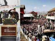 कश्मीर: आंखों में आंसू के साथ शहीद जवान को अंतिम विदाई देने उमड़ी भीड़, देखिए तस्वीरें...