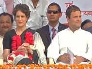 यूपी चुनाव: कांग्रेस के 'गढ़' में दिखी प्रियंका, राहुल ने साधा पीएम मोदी पर निशाना