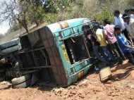 मध्य प्रदेश में मजदूरों को लेकर जा रही मिनी बस पलटी, 12 की मौत