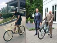वेस्टइंडीज में जडेजा ने चलाई साइकिल, क्यों कहा पीएम मोदी को शुक्रिया?
