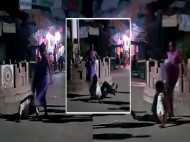VIDEO: पति की बीच सड़क पर जमकर धुनाई, पत्नी ने पीटा बहुत बुरा