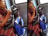 OMG! चलती ट्रेन में शेव बनाने लगी ये महिला,Video हुआ वायरल