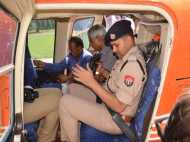 PICS: सहारनपुर में हेलीकॉप्टर से हो रही है कांवड़ियों की सुरक्षा