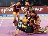 Pro Kabaddi 2017: यूपी योद्धा ने तेलुगु टाइटंस को 39-32 से दी मात, नितिन तोमर रहे हीरो