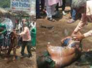 मेरठ हाईवे पर युवक ने खुद पर पेट्रोल डालकर लगा ली आग, वीडियो में देखिए घटना