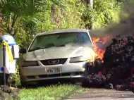 VIDEO: ज्वालामुखी से निकली ऐसी आग, चंद सेकेंड में कार हो गई राख
