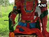 तेलंगाना: कुछ शरारती तत्वों ने भगवान हनुमान की मूर्ति को तोड़ा, पुलिस कर रही है जांच