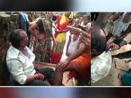 छेड़छाड़ करने वाले को पकड़ कर ग्रामीणों ने मुंडवाए बाल, देखें वीडियो