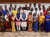 PICS: प्रधानमंत्री मोदी ने की राष्ट्रीय पुरस्कार विजेता शिक्षकों से मुलाकात