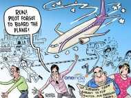 CARTOON: पायलट चढ़ना ही भूल गया और जहाज ने भरी उड़ान