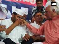 गुजरात: पाटीदार नेता हार्दिक पटेल ने तोड़ा अनशन, 19 दिनों से उपवास पर थे