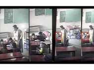 मध्य प्रदेश: महिला टीचर ने मासूम छात्र को बेरहमी से पीटा, मुंह में घुसाया स्लेट, वीडियो वायरल