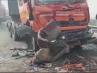 झज्जर में कोहरे का कहर, नेशनल हाईवे पर टकराईं 50 गाड़ियां, 8 लोगों की मौत, कई घायल