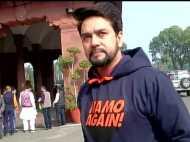 चुनावी मोड में आई BJP, 'नमो अगेन' की ड्रेस पहन संसद पहुंचे अनुराग ठाकुर