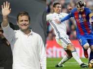 VIDEO: बार्सिलोना या रियल मैड्रिड नहीं बल्कि ये है राहुल गांधी का पसंदीदा फुटबॉल क्लब