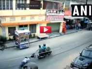 VIDEO: कैश से भरा बैग नहीं छोड़ा युवक, सड़क पर दूर तक घसीटते रहे लुटेरे