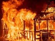 आग की लपटों में सोते रहे दो बच्चों को पिता चाहकर भी नहीं बचा सका, तीनों की दर्दनाक मौत