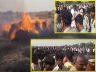 यूपी: 2 गांवों के बीच लगी भीषण आग, 300 बीघा गेहूं की फसल हो गई खाक, रो-रोकर किसानों का बुरा हाल