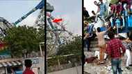अहमदाबाद: पार्क में थे सैकड़ों लोग, कैसे टूटा झूला और मच गईं चीख-पुकार, सामने आया वीडियो