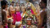 Sawan 2020: सावन के पहले सोमवार पर महाकाल मंदिर में हुई भस्म आरती, देखें दिव्य नजारा