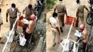 लॉकडाउन में पुलिस की मनमानी, गरीब फल वाले से सारे फल छीन चलती बनी पुलिस, देखें VIDEO