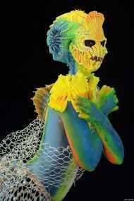 तस्वीरों में: शरीर पर उकेरी गई खूबसूरत कलाकृतियां