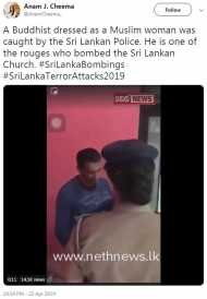 क्या श्रीलंका का 'हमलावर' बौद्ध था जो बुर्क़ा पहने हुए गिरफ़्तार हुआ? फ़ैक्ट चेक