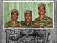 Prabhakaran with two pilots