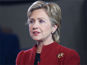 United States Foreign secretary Hillary Clinton