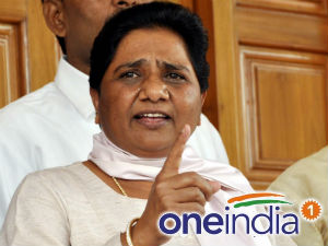 The former UP chief minister Mayawati